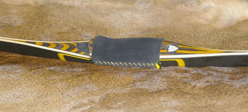 Viper poignée dymonwood jaune / gris